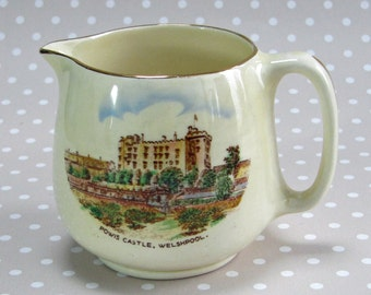 Vintage Crown Devon Powis Castle Milk Jug Made in England