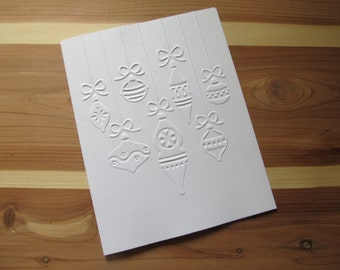 Set of 5 Embossed Christmas Note Cards