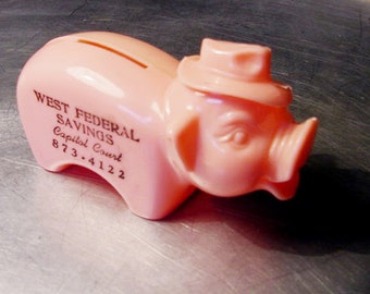 VINTAGE ADVERTISING BANK Collectible Piggy Bank Mad Men