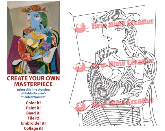 PICASSO Coloring Page Coloring
