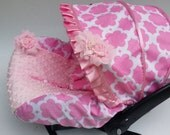 Baby Car Seat Cover Canopy, Infant Car Seat Cover Canopy, Floral Print, for Baby Girl Car Seat Cover, fit most Infant car seat