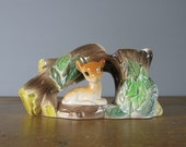 Vintage Porcelain Vase Hornsea Fauna / Fawn / Bambi / Kitsch / Deer / ceramic figurine / collectable *60