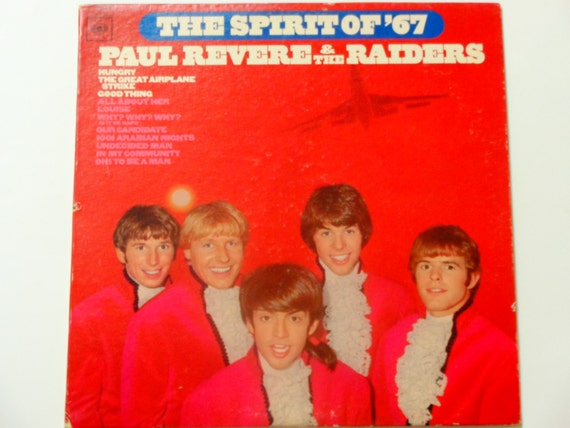 """ON SALE Paul Revere and the Raiders - The Spirit of '67 with hit """"Hungry"""" - Original Mono Columbia Records 1966 - Vintage Vinyl LP Record Al"""
