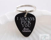 I always pick you engraved key chain | personalized keychain