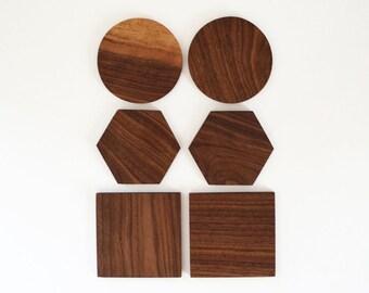 Combination Wood Coaster Set