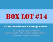 Vintage Linens Box Lot 2.5 LBS