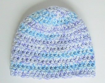 Newborn Cap Baby Boy White Purple Blue Hat Infant Girl Violet Winter Skullcap 3 Month Old Fall Lilac Beanie  Crochet Lavender Clothes