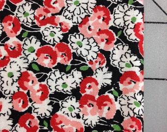 Vintage Floral - by Michael Miller - Judy- Fat Quarter cut - PC6706-BLACK 100% cotton