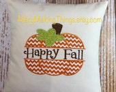 Happy Fall Pumpkin Pillow Cover in size16x16