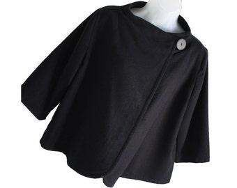 Womens handmade jacket.  Casual  Loose fitting Kimono style.  Fully lined.