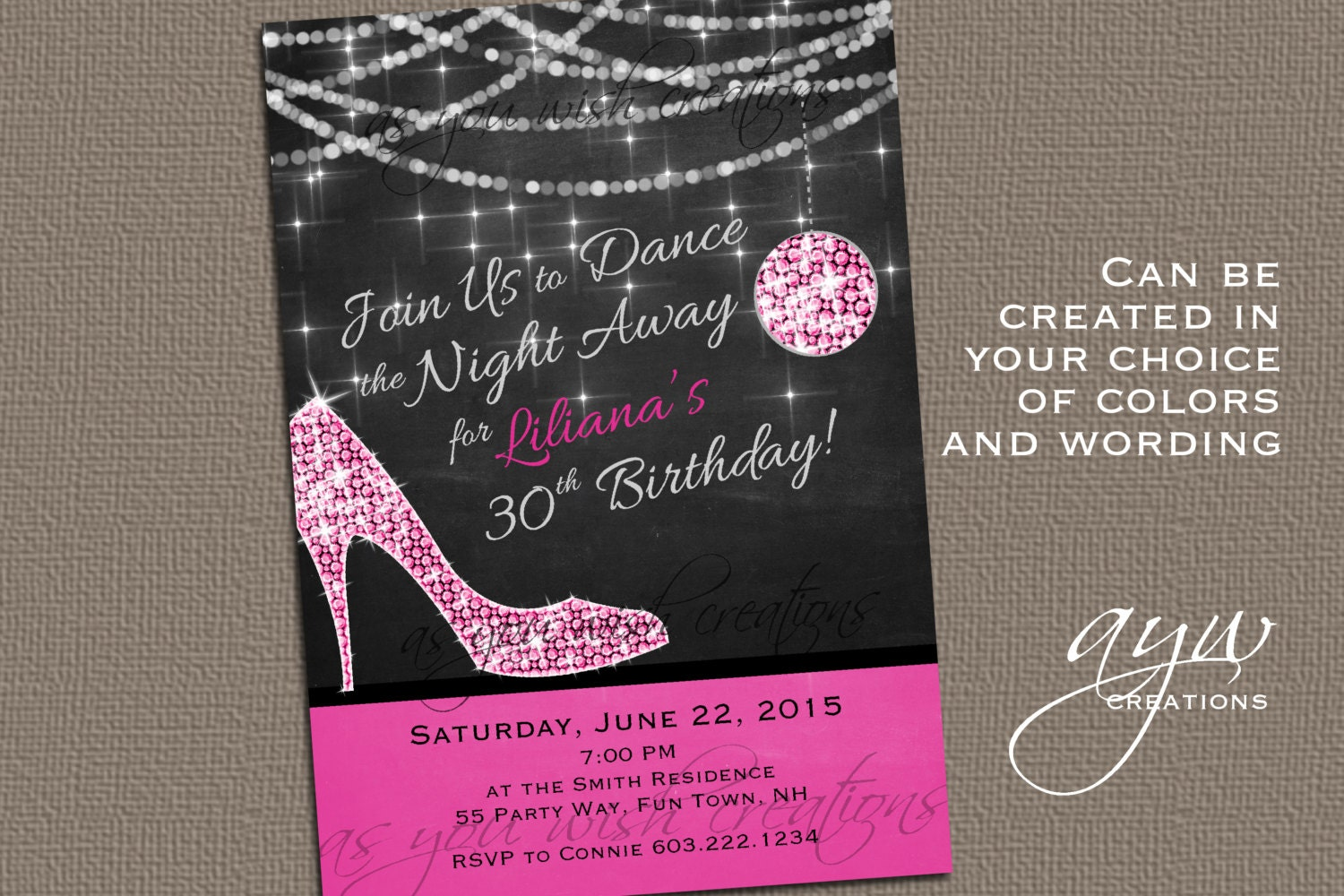 High Heels Dance Party Invitation Printable Invitation Elegant – Dance Party Invites