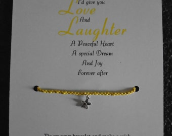 Love and Laughter Wish Bracelet
