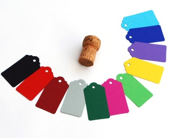 Recycled Gift Tags Medium, Bright colour Swing Tags, Luggage or Hang Tags, Sets of 15, 30, 60 or 105
