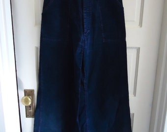 Vintage 70s Corduroy Superbells Bellbottom Pants sz 28 x 31.5
