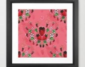 strawberry art print / fo...