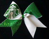 Starbucks Inspired Cheer Bow