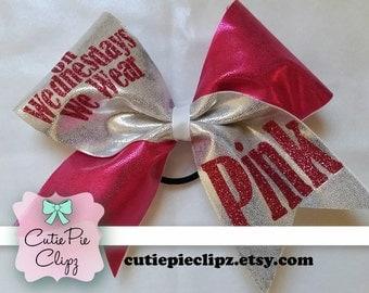 On Wednesdays We Wear Pink Glitter Vinyl Decal