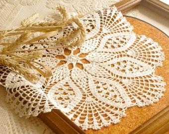 Pineapple crochet doily Large lace doily crochet White elegant crochet doilies Table decoration Crochet decoration 165