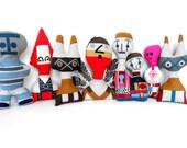 Alexander Girard inspired Fabric Doll