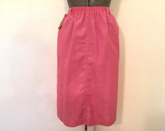 Vintage Pink Skirt / Med/Large / A Line Skirt