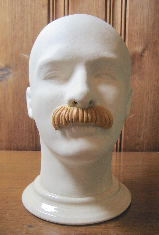 Pottery Art Mannequin Head Sculpture Male Mannequin Bust
