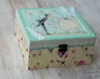 Bridal Shower Decoration, Wedding Card Box, Wedding Decoration Box, Wedding Trinket Box, Wedding Wish Box, Wedding Treasure Box