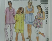 McCalls 5399 Size 14 16 Today's mother Maternity Shirt Flared Tank Top Pants and Shorts 1991 Sewing Pattern Uncut FF
