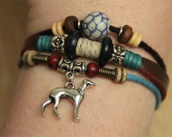 Whippet Bracelet - Greyhound Bracelet - Italian Greyhound Galgo Jewelry