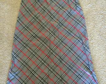 Vintage Grey Plaid Skirt