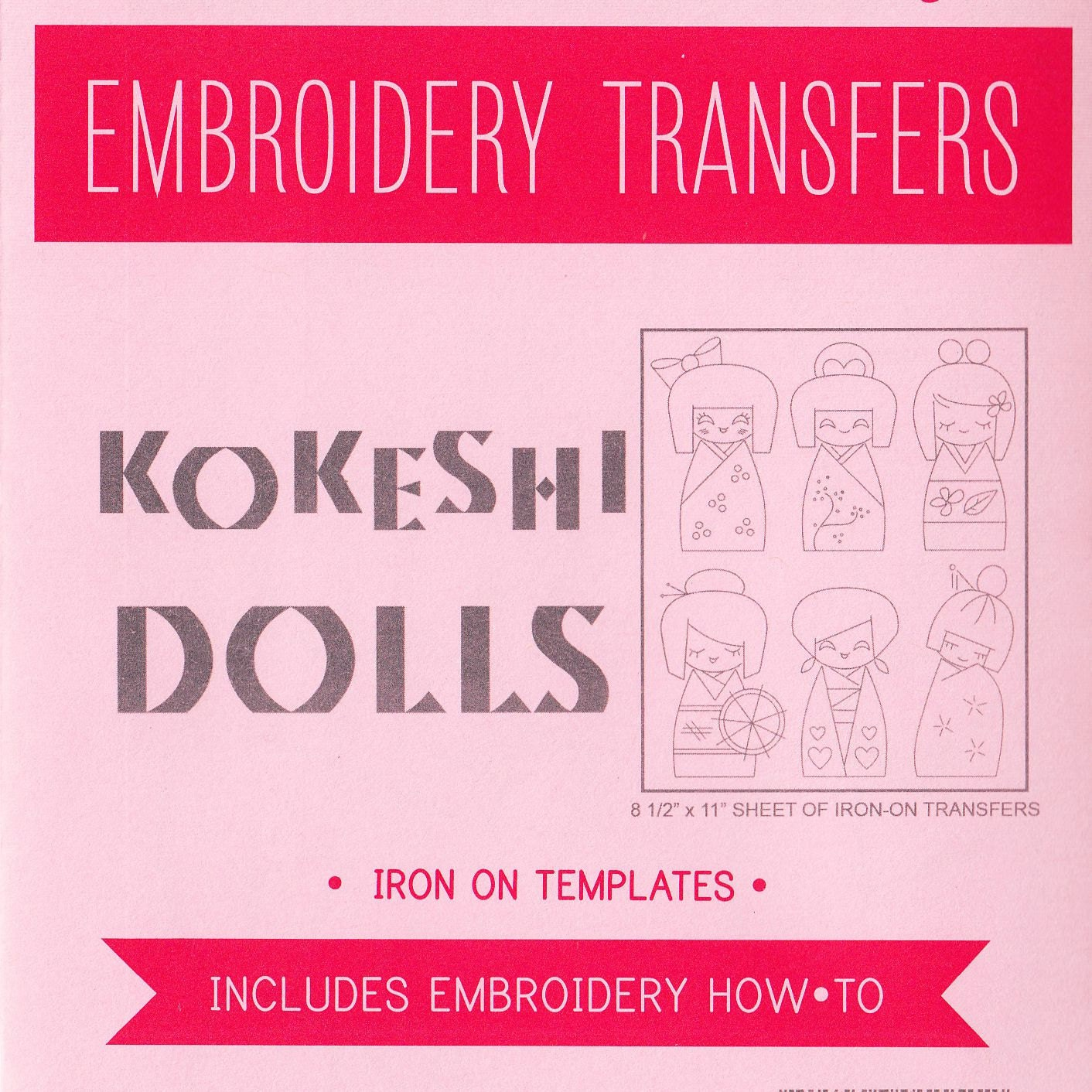 Kokeshi doll hand embroidery patterns sublime stitching