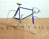Midnight Blue Wire Track Bike