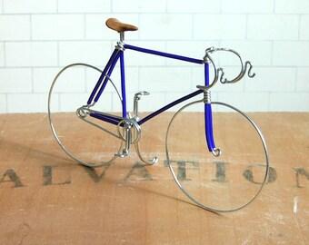 Midnight Blue Wire Track Bike