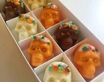 Halloween Day of the dead chocolate skulls