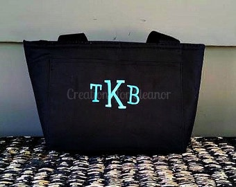 Monogrammed Lunch Tote, Insulated, Lunch Bag, Lunch Box, Monogrammed Lunch Bag, Monogrammed Lunch Tote, Monogrammed Cooler