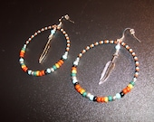 Cherokee Inspired Beaded Hoop Earrings by MICH RICH (Cherokee Collection)