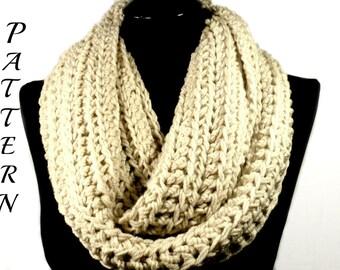Crochet Scarf Pattern, Crochet Infinity Scarf Pattern, Crochet Scarf, Scarves, Crochet Cowl Pattern, Neckwarmer Pattern, Infinity Scarf #109