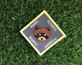 Wes Anderson inspired Moonrise Kingdom Khaki Scout of North America iron-on fan patch Scout patch