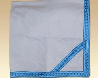 Baptism accessories Ukrainian  for babies. Embroidered kryzhma. Embroidery green, blue, red, brown. Ukrainian Vyshyvanka vishivanka