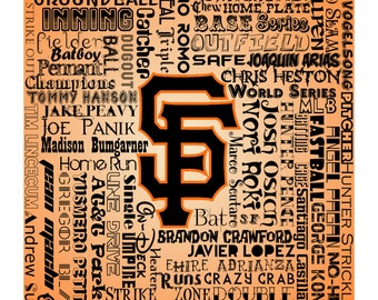 SF Giants Word Print