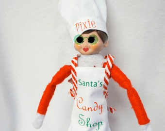 Chef Hat and Apron customized for Christmas Elf