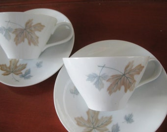 Noritake Maplewood Teacup saucer 2 sets available use quantity button, Retro, Maplewood,  discontinued, Very good
