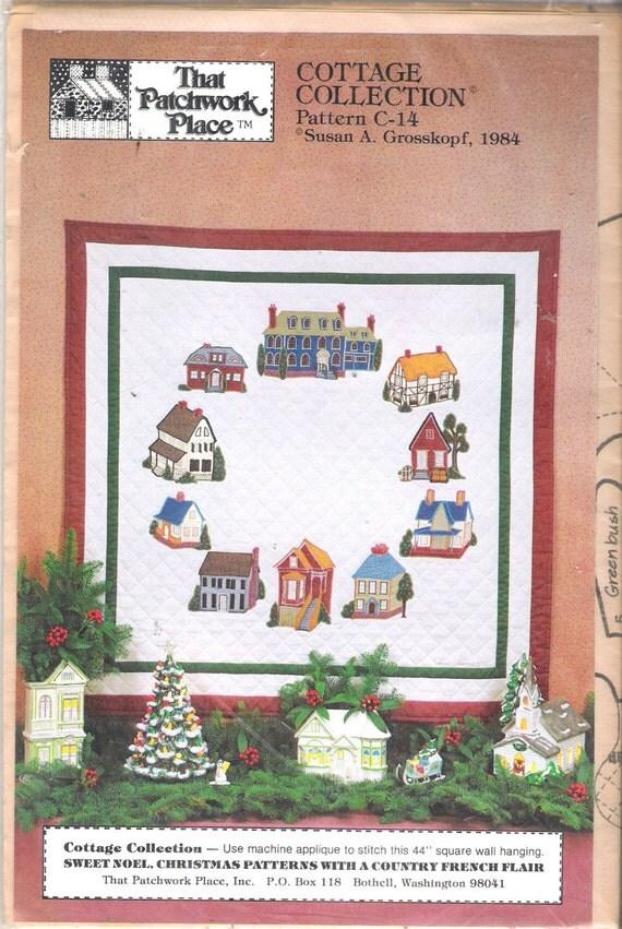 Vintage 1984 The Patchwork Place C-14a & C-14b Cottage Collection by Susan A Grosskopf Uncut Pattern
