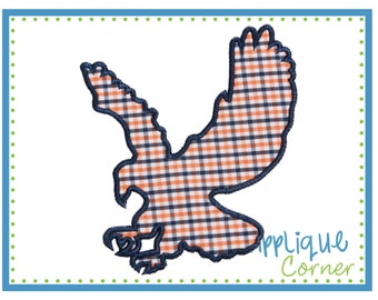 1040 Eagle Soaring Applique Design digital design for embroidery machine by Applique Corner