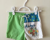 90s Mickey Mouse Vacation Club Cotton Shorts, Boys Size 24 Months