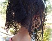 Black lace chapel veil, Prod.# ZB09