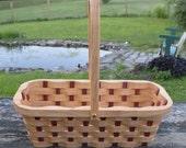 Wine bottle cradle Honey Locust wood with handle