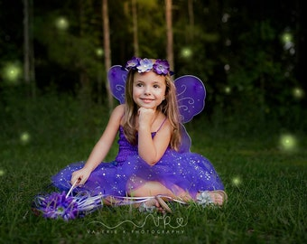 Purple Fairy Costume, Purple Tutu, Purple Princess Dress, Tinkerbell Wings, Tinkerbell Tutu,Tinkerbell Costume, Princess Dress, Tinkerbell