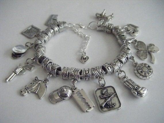 Peaky Blinders I Heart Thomas Shelby Charm Bracelet BBC TV ...