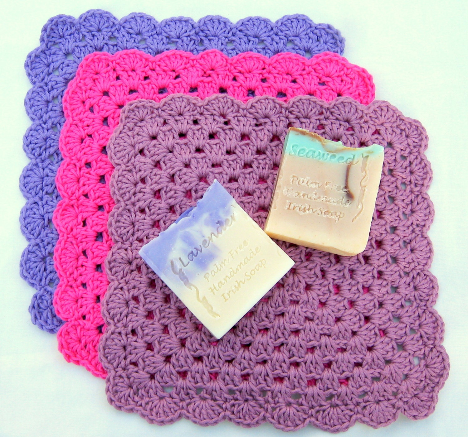 Crochet Granny Square Dishcloth Pattern : Crochet Flannel Pattern Granny Square Design UK version