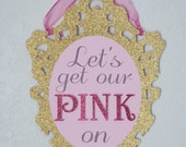 Decorative Frame Door Sign - Great for parties, shower, weddings, holidays.  Personalized colors and wording
